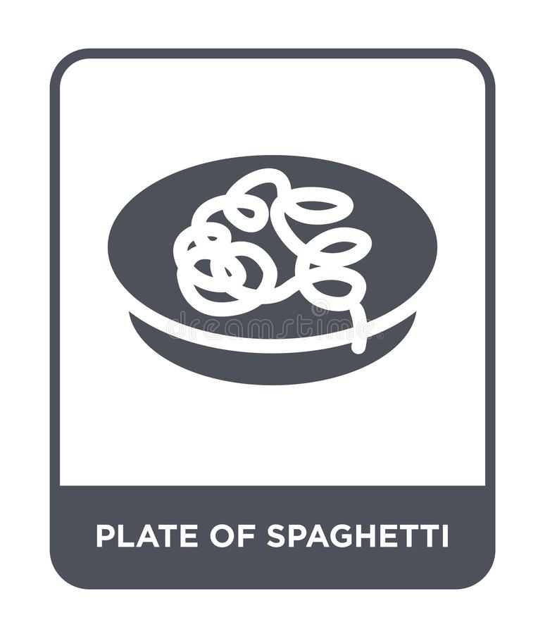 plate of spaghetti icon in trendy design style. plate of spaghetti icon isolated on white background. plate of spaghetti vector royalty free illustration