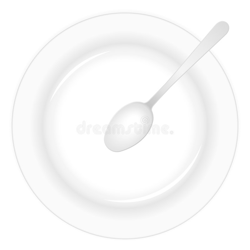 Download Plate and spoon stock vector. Image of dishes, kitchenware - 8771577