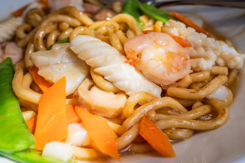 Seafood Udon Noodle royalty free stock image
