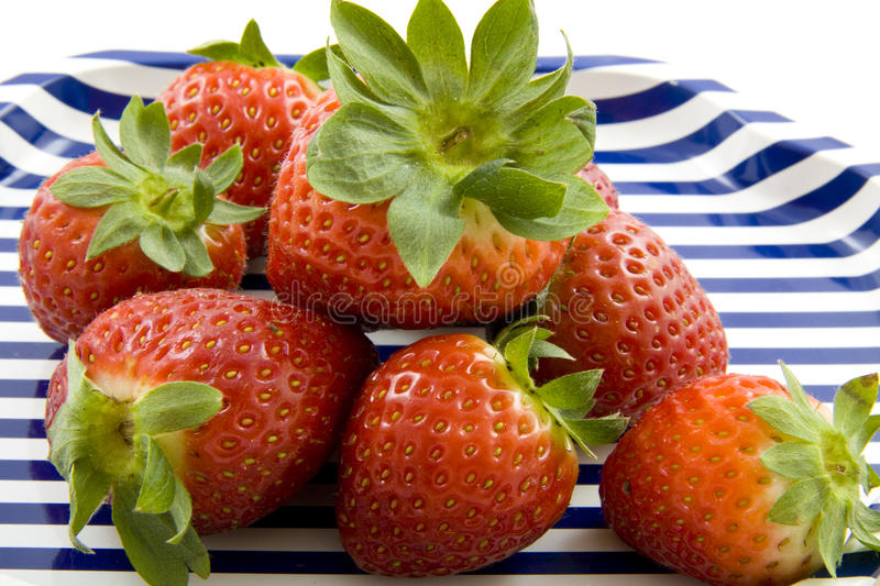 Download Plate with strawberries stock image. Image of delicious - 13203443