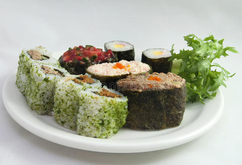 Plate Sushi 2 royalty free stock images