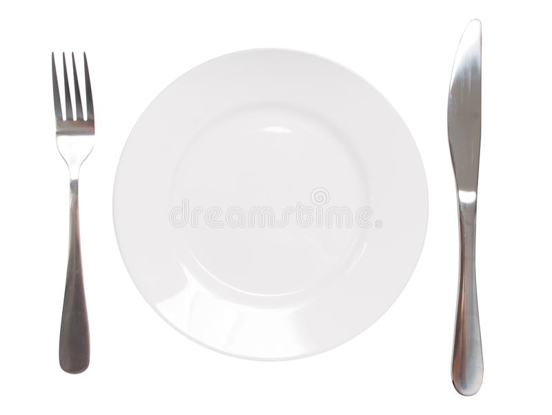 Plate And Utensil Royalty Free Stock Photos