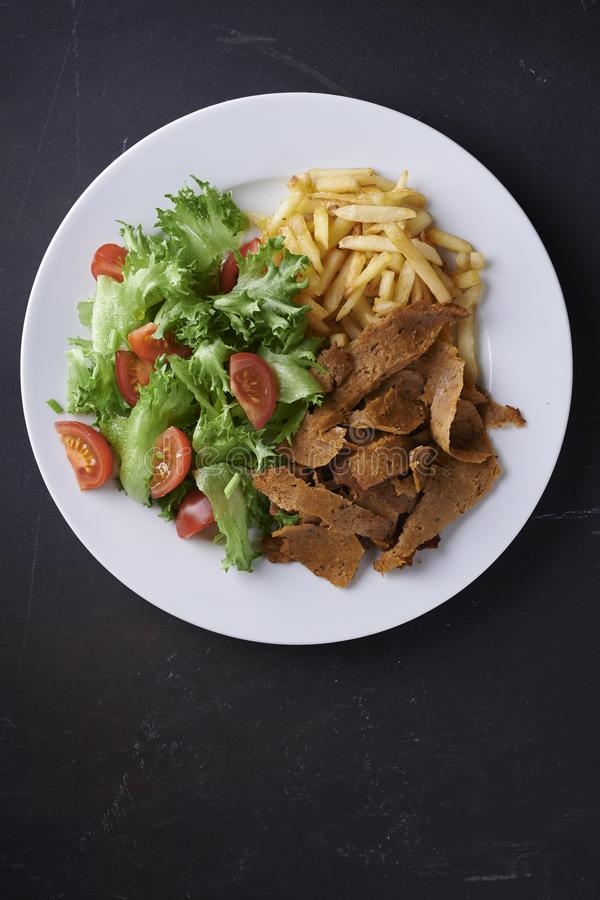 Plate with vegan denar. royalty free stock photography