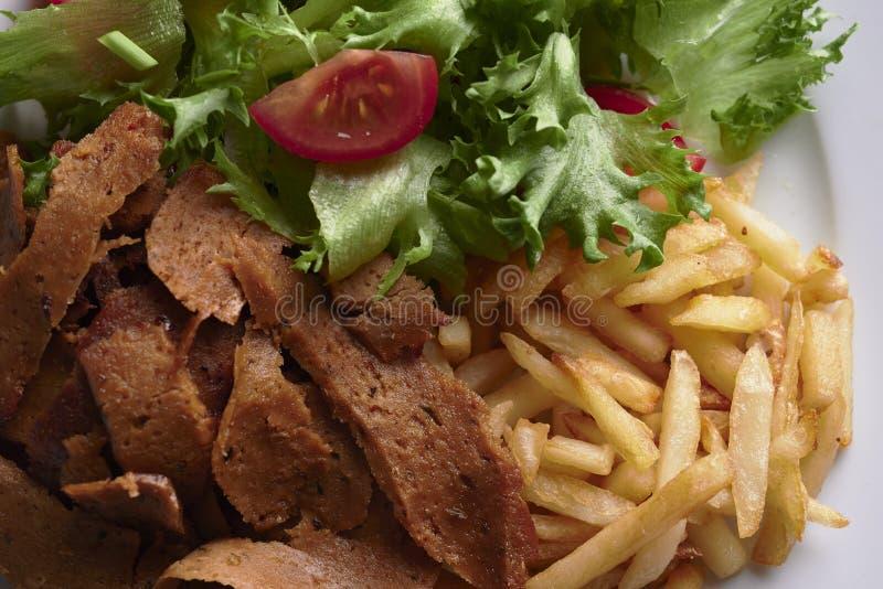 Plate with vegan denar. stock photography