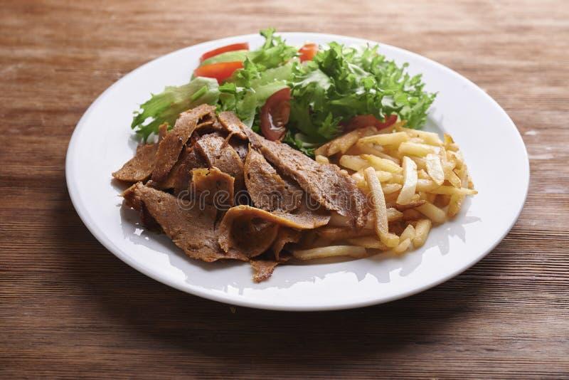Plate with vegan denar. stock images