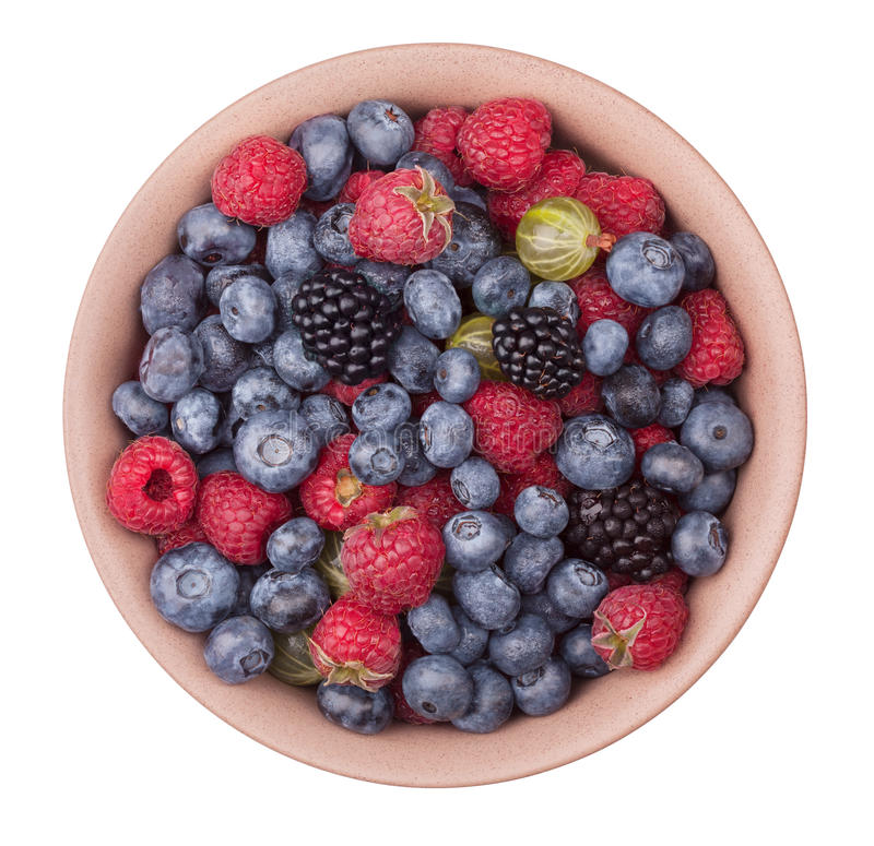 Free Plate With Berries Stock Images - 79015204