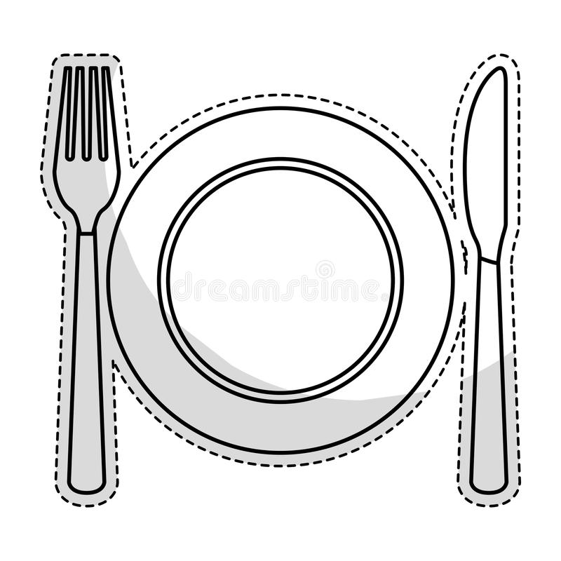 Free Plate With Cutlery Royalty Free Stock Images - 81803289