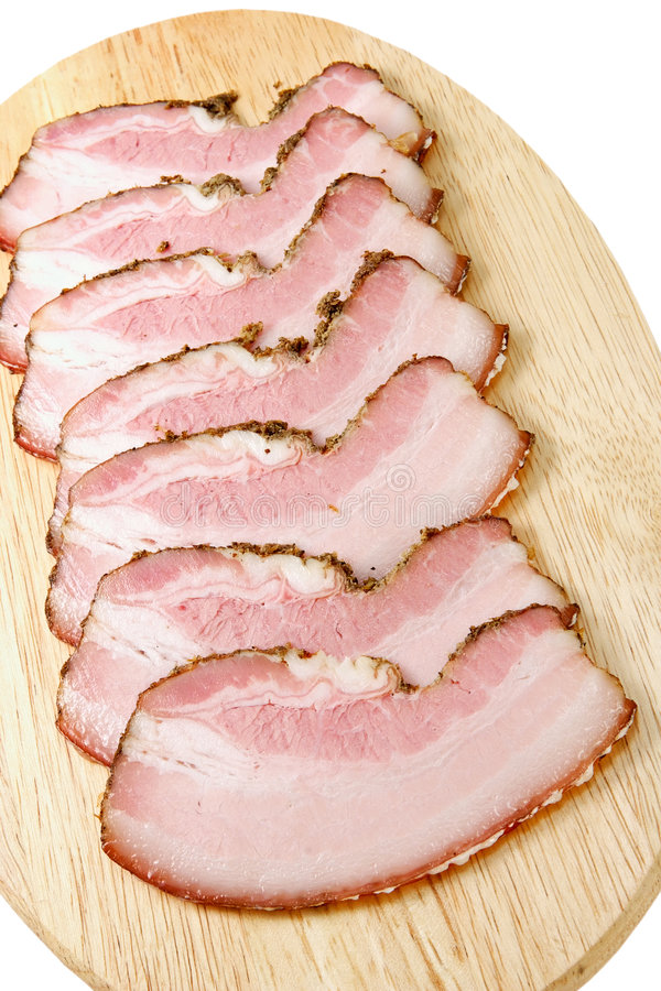 Free Plate With Snack From Bacon Stock Photo - 1790520