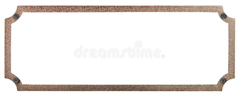 Plateado de metal con los remaches imagen de archivo libre de regalías