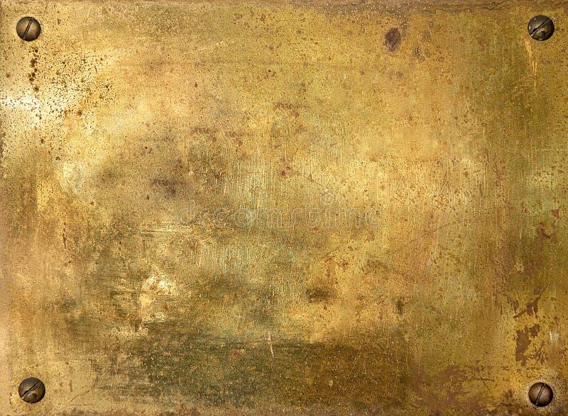 Plateado de metal de cobre amarillo brillante fotografía de archivo