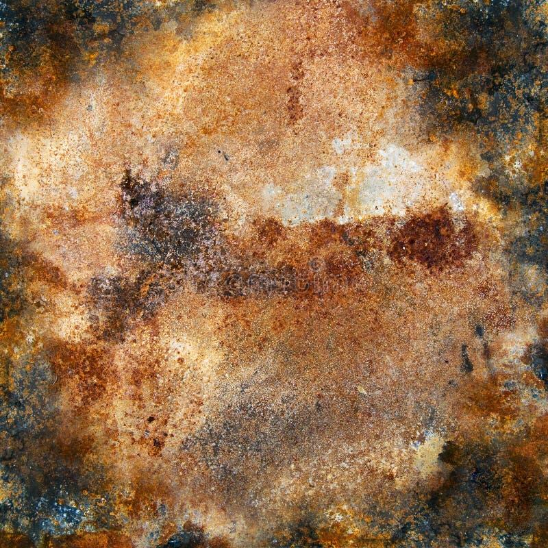 Plateado de metal fuertemente oxidado fotografía de archivo libre de regalías