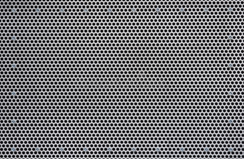 Plateado de metal perforado imagen de archivo libre de regalías