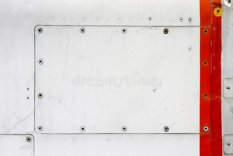 Plateado de metal vacío imágenes de archivo libres de regalías