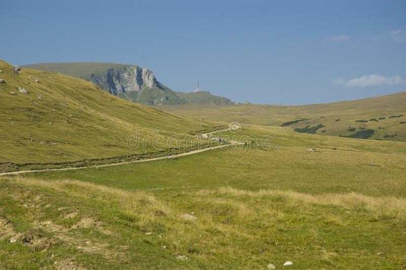 Plateau. Bucegi plateau with Heroe's Cross in back stock photo