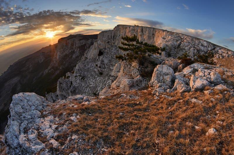 Plateau Ai-Petri. The magnificent view from plateau Ai-Petri, Crimea stock images