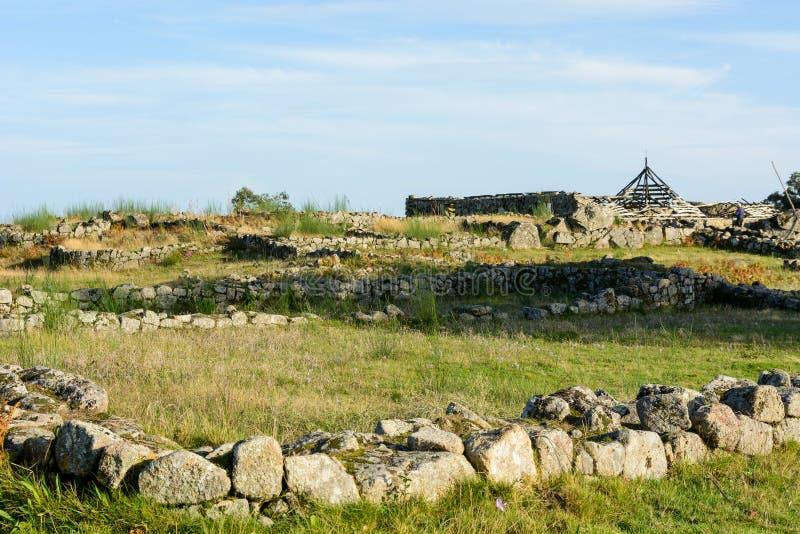 Plateau Citania de Sanfins Portugal foto de archivo libre de regalías