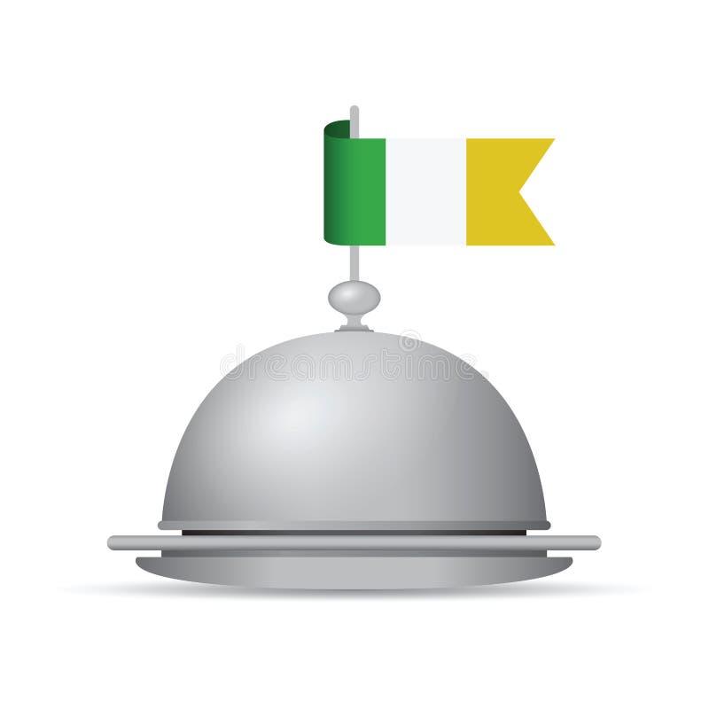 Plateau de drapeau de l'Irlande illustration stock