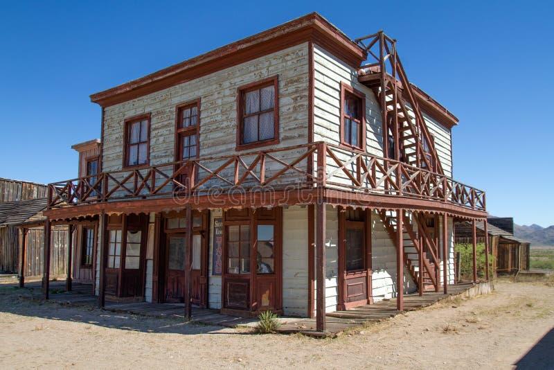 Plateau de filmagem ocidental selvagem velho da cidade no Arizona imagem de stock royalty free