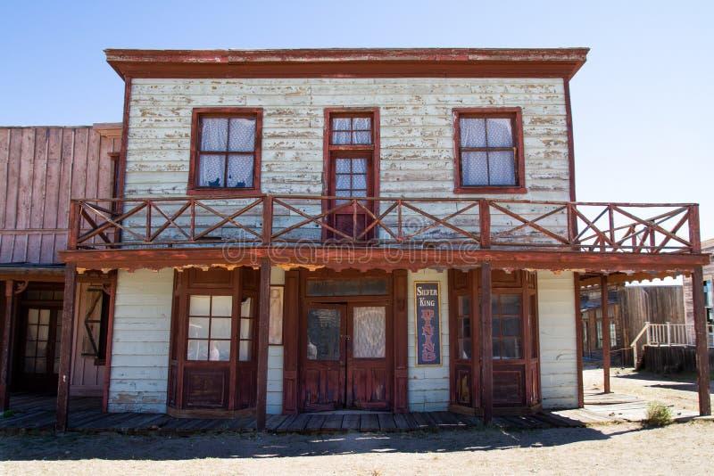 Plateau de filmagem ocidental selvagem velho da cidade no Arizona fotos de stock