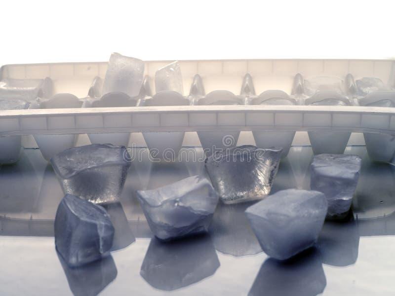 plateau de glace de cube photographie stock