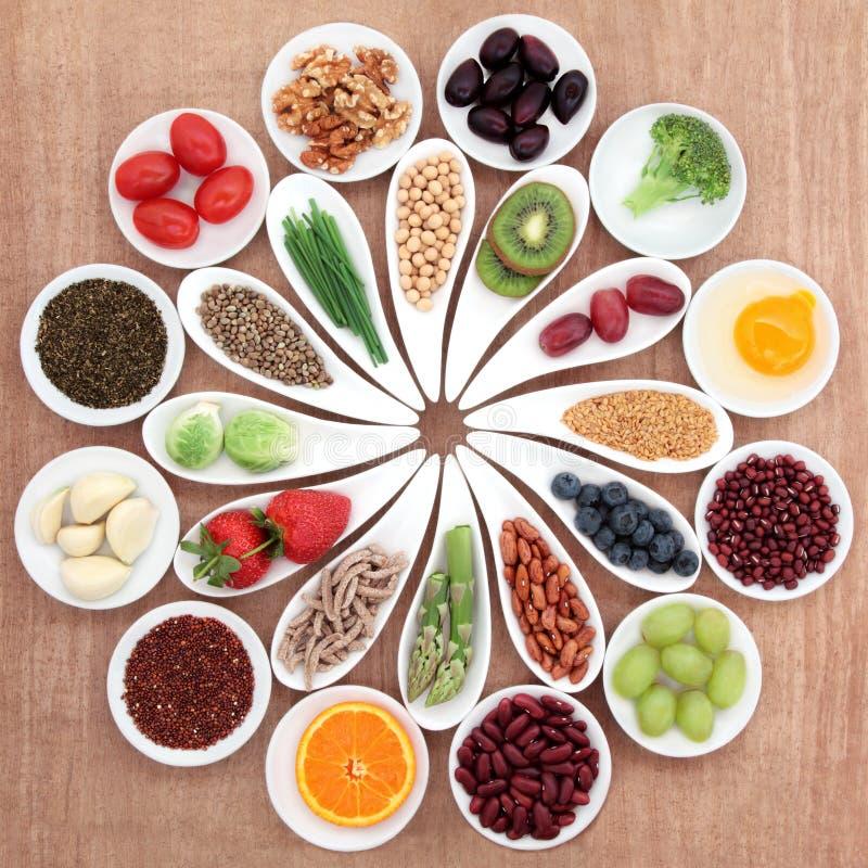 Plateau de nourriture biologique image libre de droits
