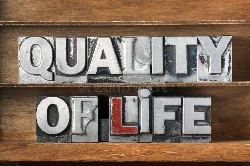 Plateau de qualité de vie photographie stock libre de droits