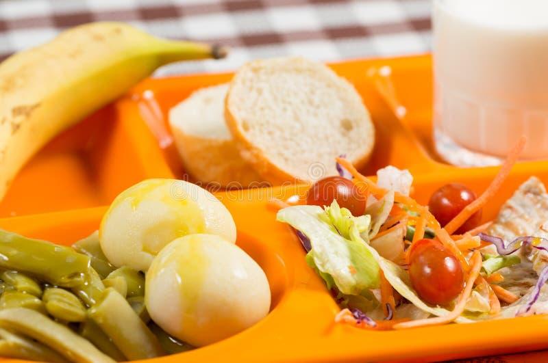 Plateau de repas scolaire photos libres de droits