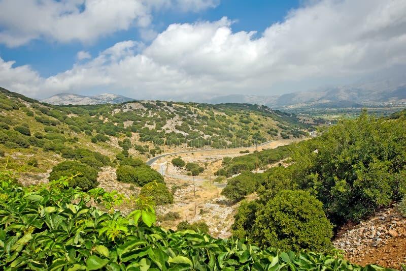 Plateau della Lasithi su Crete, Grecia fotografie stock