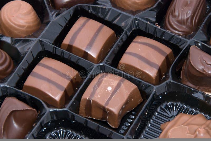 Plateau des chocolats image stock