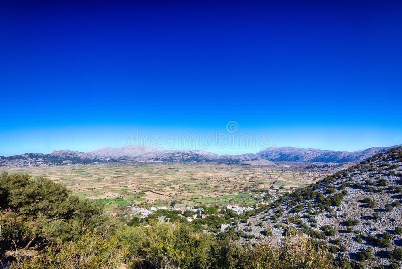Plateau di Lasithi in Creta, Grecia immagine stock