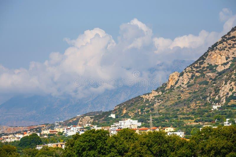 Plateau di Lasithi sull'isola di Creta fotografie stock libere da diritti