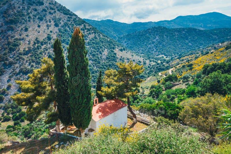 Plateau di Lasithi sull'isola di Creta, Grecia fotografie stock libere da diritti