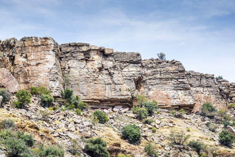 Plateau di Saiq delle rocce immagine stock libera da diritti