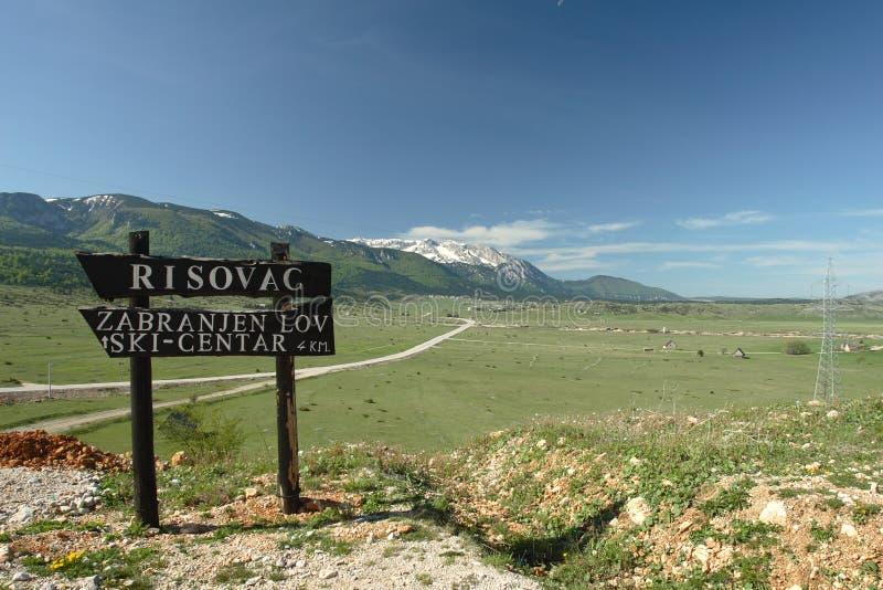 Plateau Dugo Polje in Bosnia Herzegovina royalty-vrije stock foto's