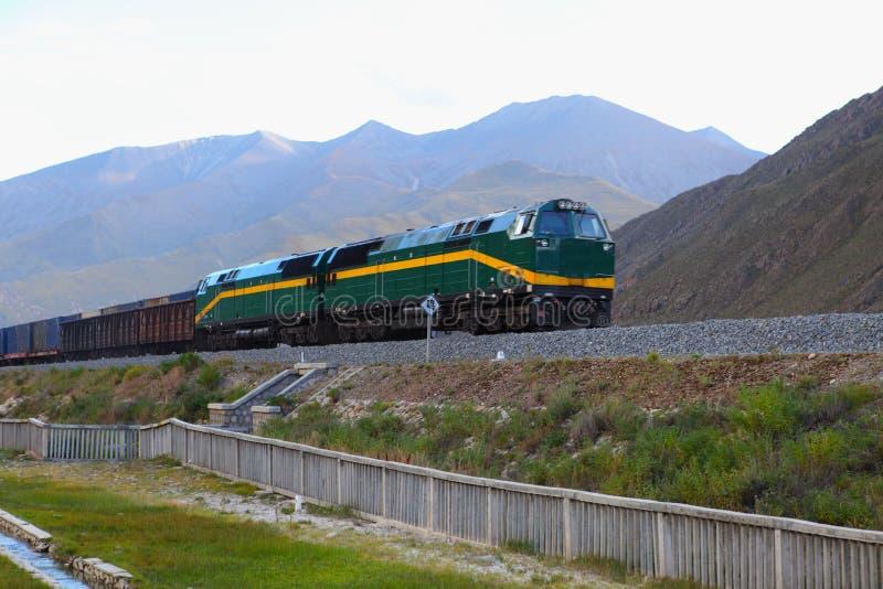 Chemin de fer du Qinghai-Thibet photo stock