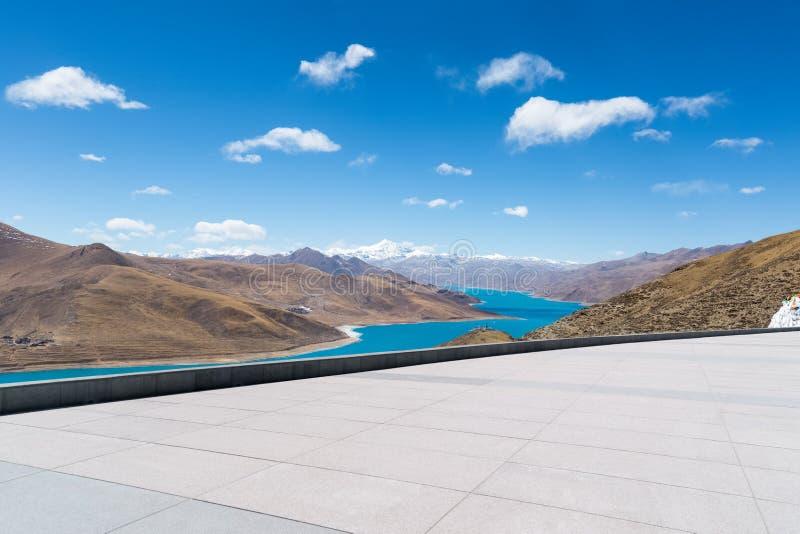 Plateau heilige Seelandschaft lizenzfreies stockbild
