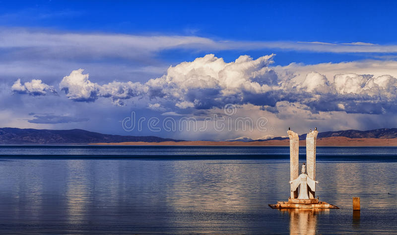 Plateau lakes - Qinghai Lake. It is located in the famous lake of Qinghai Province in China - Qinghai Lake stock photo