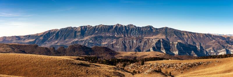 Plateau of Lessinia and Monte Baldo - Veneto Italy. Monte Baldo and Plateau of Lessinia, Regional Natural Park, Italian Alps near Verona and lake Garda, Veneto stock photography