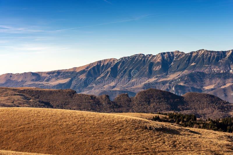 Plateau of Lessinia and Monte Baldo - Veneto Italy. Monte Baldo and Plateau of Lessinia, Regional Natural Park, Italian Alps near Verona and lake Garda, Veneto stock photos