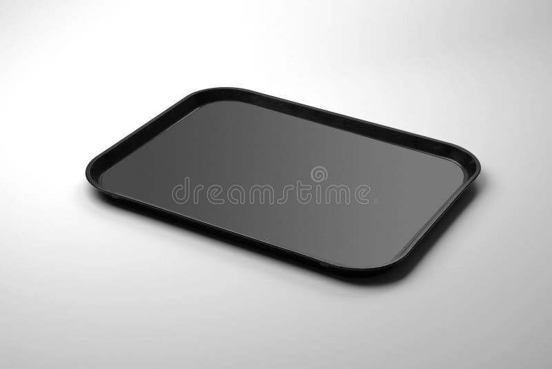 Plateau noir rectangulaire de plexiglass images libres de droits