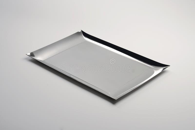 Plateau rectangulaire en acier images libres de droits