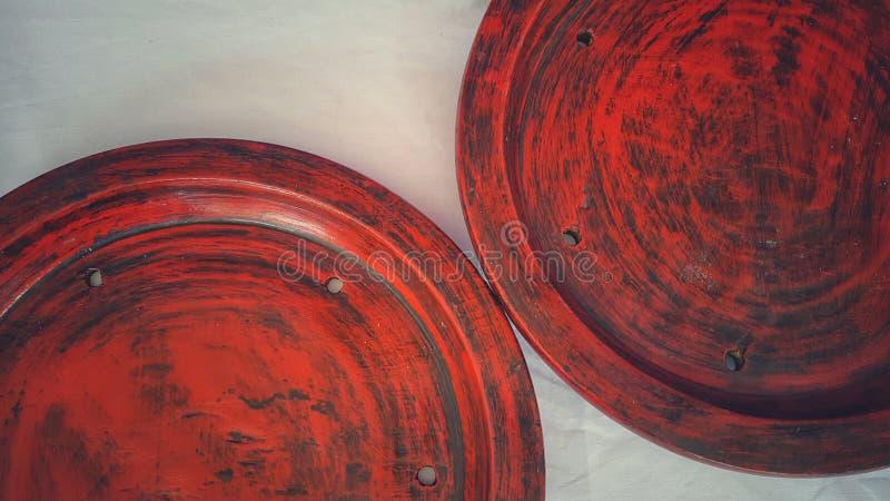 Plateau rouge images libres de droits