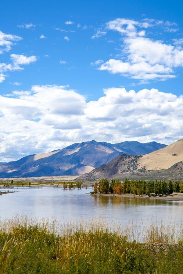 Plateau scenery landscape reflection. Tibet plateau scenery beautiful scenery reflection in the water stock images