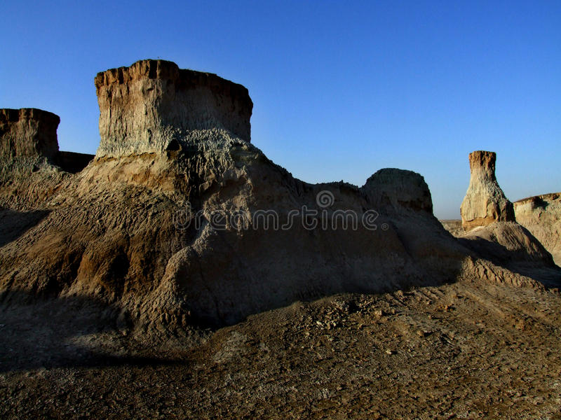 Plateau sunset. Photos taken in the geological park scenic area of Datong Shanxi China royalty free stock images