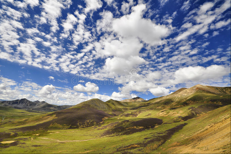 Plateau tibetano fotografia stock