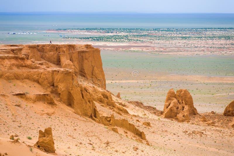 Plateau turistico Mongolia di Khermen Tsav immagine stock libera da diritti