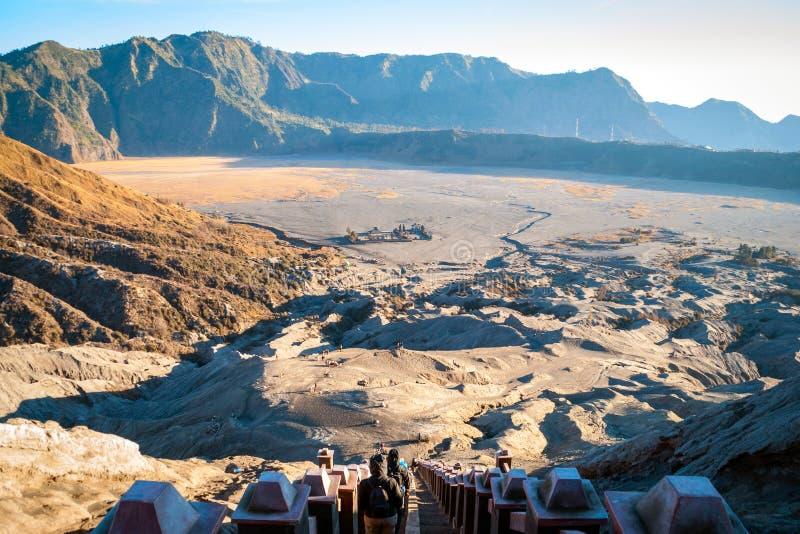 Plateau vulcanico di Mt Bromo, Java, Indonesia fotografia stock libera da diritti