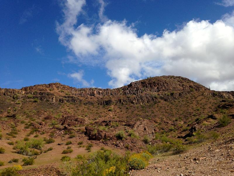 Plateaus dichtbij Gila Bend, Arizona royalty-vrije stock foto's