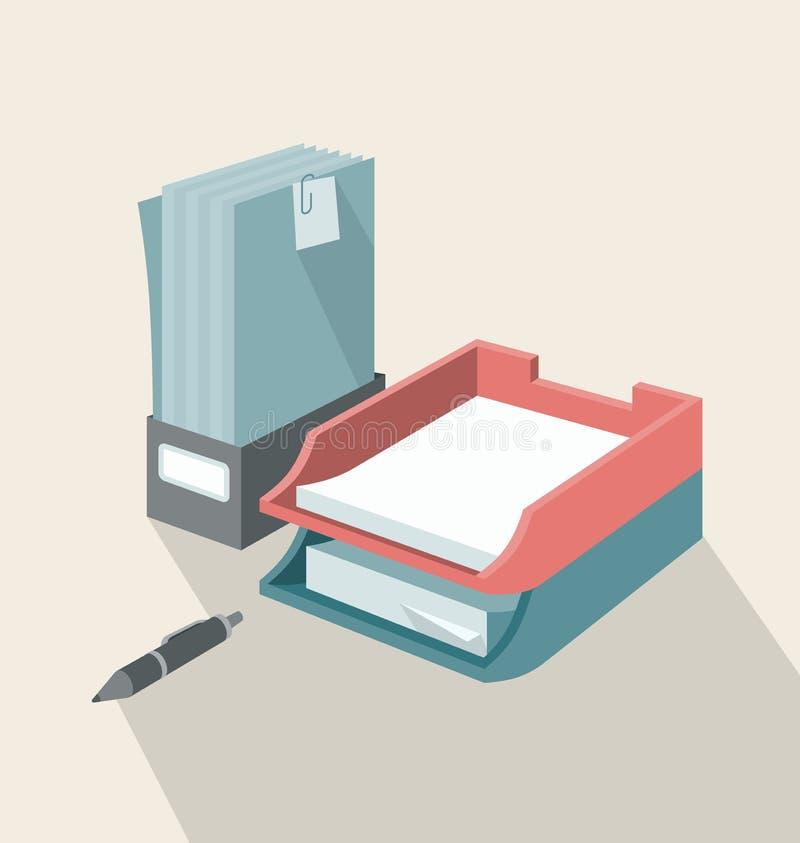 Plateaux pour des papiers illustration libre de droits