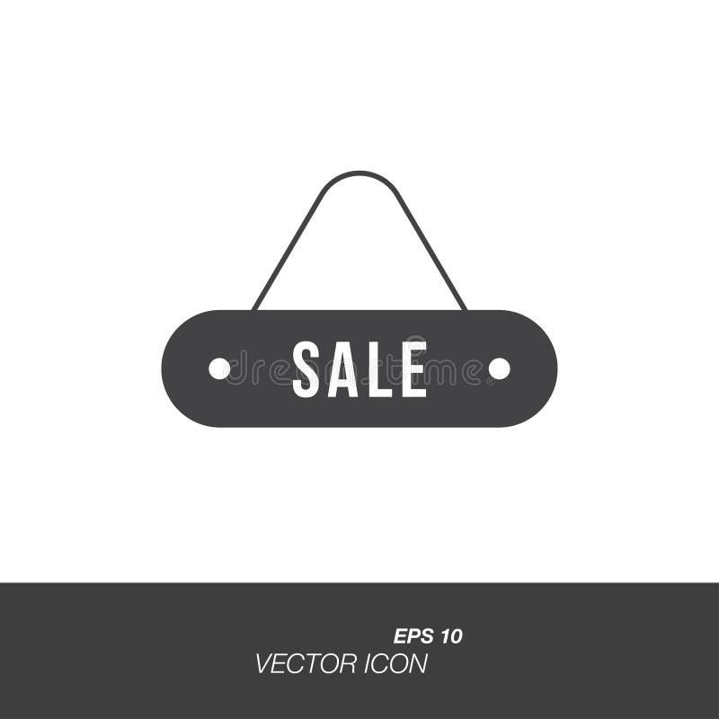 Platee el icono de la venta en estilo plano aislado en el fondo blanco ilustración del vector